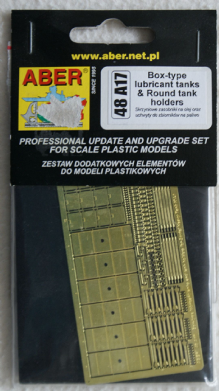 ABER 1/48 48A17 Box Type Lubricant Tanks & Round Tank